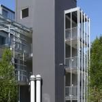 Treppenturm mit Lüftungsauslass Neubau Alemannenstraße 19 a – 19 b